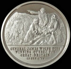 1975 SILVER CONTEMPORARY VICTORY MEDAL GENERAL JAMES WOLFE DIES WINNING QUEBEC