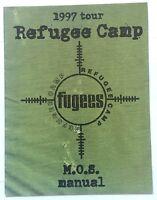 FUGEES Refugee Camp Tour 1997 Tour Concert Program Book Old Original Vtg Rare