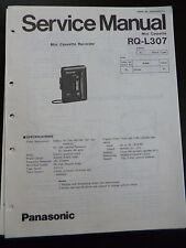 Original Service Manual Panasonic Mini Cassette RQ-L307