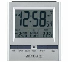 Acctim Chula Radio Controlled Double Alarm Clock Display Features Time Calendar