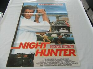 altes Kinoplakat Filmposter A1 NIGHT HUNTER The Action Film of the year