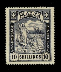 MALTA 1919 10/ BLACK SG96 MNH. VERY SCARCE. FORGERY. B242