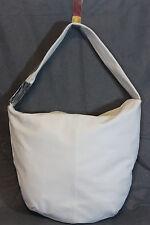 RENATO ANGI , Italian,White Pebbled Leather Bucket,Shoulder Bag, Handbag-NWOT