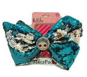 LOL Surprise Dolls Hair Bow Featuring Cosmic Queen Sequin Teal Silver Authentic