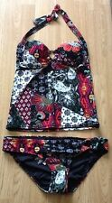 NEXT PATCHWORK PRINT TEXTURED TANKINI BIKINI SIZE 14 TOP & 14 BOTTOMS BNWT