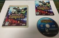 Dynasty Warriors 6: Empires (Sony PlayStation 3, 2009) COMPLETE CIB ps3
