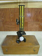 Antique Small French Cased Optical Microscope