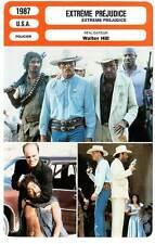 FICHE CINEMA : EXTREME PREJUDICE - Nolte,Ironside,Hill 1987