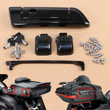Black Tour Pak Pack Trunk Lids Latches For Harley Davidson Touring 2014-2019