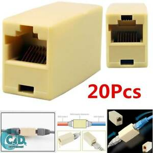 20X RJ45 Ethernet Network LAN Cat5e Cat6 Cable Joiner Adapter Coupler Extender