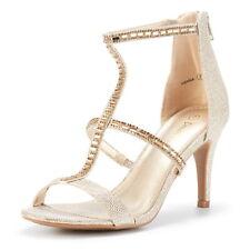 DREAM PAIRS Women's Stilettos High Heel Sandals Open Toe Wedding Party Sandals