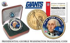 NEW YORK GIANTS NFL USA Mint PRESIDENTIAL Dollar Coin .Velvet box and coa  *NEW*