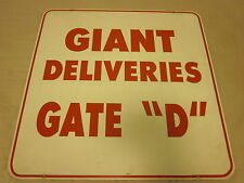 New York Giants Football Meadowlands Delivery Metal Sign