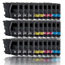 30x Tinte Drucker Patronen für BROTHER LC985BK LC985C LC985Y LC985M