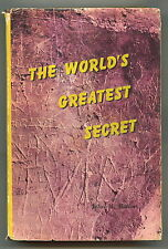 THE WORLD'S GREATEST SECRET. John M. Haffert. HCDJ Signed Advanced Edition, 1966
