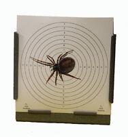 100 Air Rifle Shooting False Widow Spider 170gsm Card Targets 14cm ( Pistol Gun