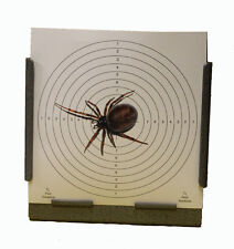 100 Air Rifle Shooting False Widow Spider 170gsm Card Targets 14cm ( Pistol Gun