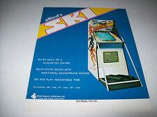 SKI By ALLIED LEISURE IND. 1975 ORIGINAL VIDEO ARCADE GAME SALE FLYER BROCHURE