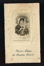 Estampa antigua del Perpetuo Socorro andachtsbild santino holy card santino