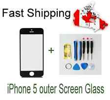 New Black Front Replacement Screen Glass for iPhone 5  / 5s / 5c