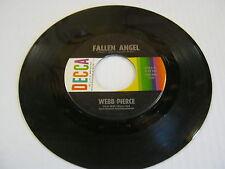 Webb Pierce Truck Driver's Blues/Fallen Angel 45 RPM Decca Records