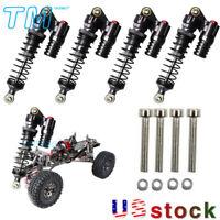 4Pcs For 1/10 Axial SCX10 II D90 TRX-4 RC Crawler Metal Shock Absorber Part US