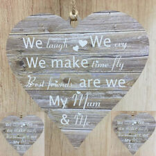 Mother Christmas Gifts Best Friends My Mum & Me Rustic Wooden Hearts Mum Mam Mom