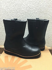 UGG STONEMAN BLACK LEATHER SHEARLING LINED Boot US 10 / EU 43 / UK 9 - NEW