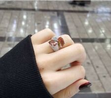 925 Sterling Silver Jewelry Alexandrite Stone Lady Adjustable Ring