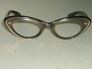 1960's LADIES 46[]20 VINTAGE BAUSCH & LOMB MULTI COLOR CATS EYE FRAMES ONLY