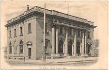 Post Office in South Omaha NE Postcard 1907
