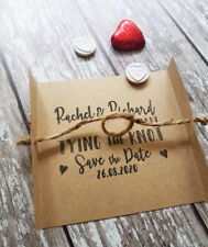 Save the Date / Tying the Knot / Save the Date Card / Stamp