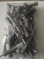50 JL Golf plastic silver castle tees 70mm long *NEW* Xmas gift  fathers