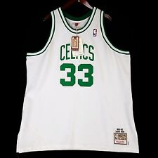 100% Authentic Larry Bird Mitchell Ness Celtic Home NBA Jersey Size 56 3XL