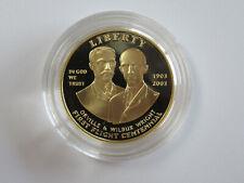 US 2003 W Orville & Wilbur Wright FIRST FLIGHT 1/2 oz PROOF GOLD COIN Ten-Dollar