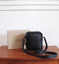 Vintage Coach Bag Camera Zip NWT NIB Black Leather Crossbody Purse Handbag 9817
