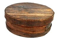 Antique Primitive Wood Cheese Box Pantry