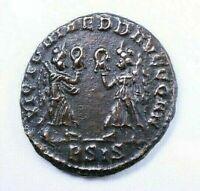 Antica moneta romana COSTANS 337-350 D.C. 16mm. A568