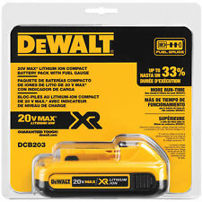 Genuine DeWALT DCB203 20-Volt MAX XR Lithium-Ion Compact Battery Pack 2.0Ah