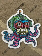 """""""They Live"""" Squid Vinyl Sticker 4"""" OBEY by Who? Art Lab"""
