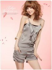 Tokyo Fashion Women's Play suits Jumpsuits Size 6/8/10 Silver Chiffon