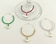 4 Bird Wine Glass Rings/Holder Charms