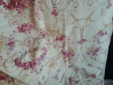Lovely Pair of Laura Ashley Malmaison Raspberry Pattern Lined Curtains Drapes
