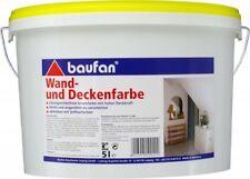 Baufan Wand- und Deckenfarbe 5 l weiß Innen-Wandfarbe wischfeste Innenfarbe