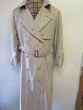 Genuine Burberry Light Brown Mac Trench Coat Raincoat Size UK 16 Euro 44