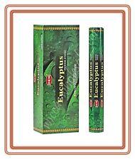 Lot Of 120 Sticks Eucalyptus Incense Hem 1 Box 6 Tube Of 20 Sticks Free Ship