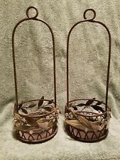 *Retired* Nib PartyLite Garden Lites Candle Holder P8102 Set of 2 No Brackets