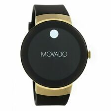 MOVADO BOLD CONNECTED 3660014 BLACK SILICONE STRAP GOLD DIGITAL SMARTWATCH