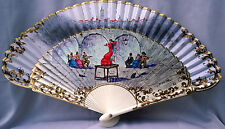 Aleixandre Vnt Wooden Folding Hand Painted Fan Lady in Red Dancing Flamenco