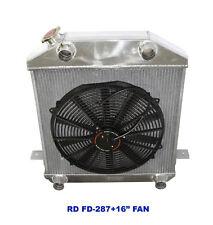 """for 39-41 Flathead L-Head V8 Y-Block 3 Core Performance RADIATOR+16"""" Fan"""